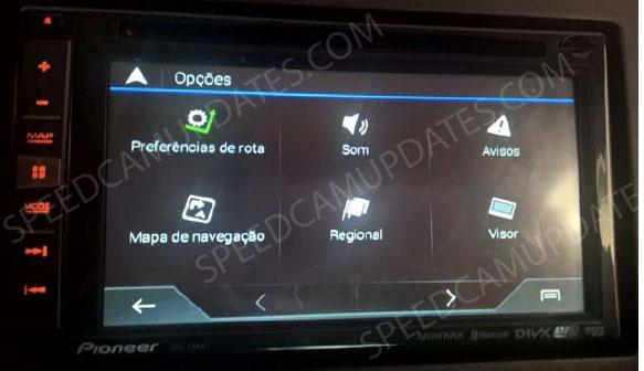 ▷ Pioneer AVIC-F960BT atualização  SpeedCam para seus mapas